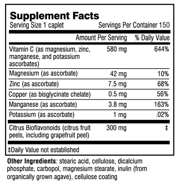 Adrenal C Formula supplement facts