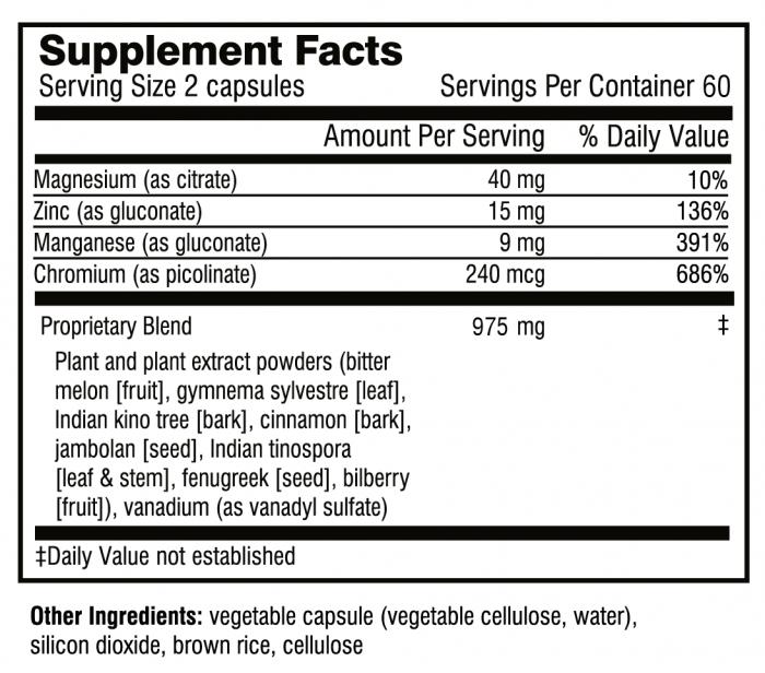 Good Sugar supplement facts