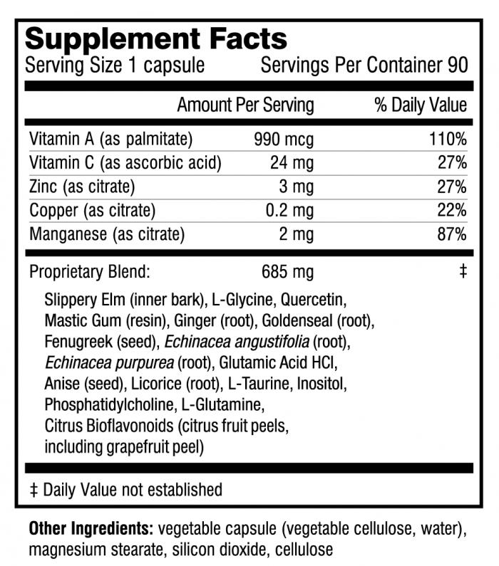 Inner Healing supplement facts