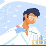animated image of lab tech analyzing tests